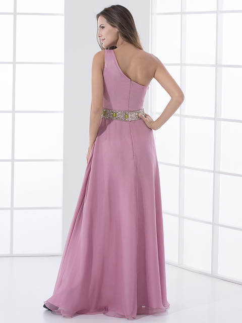 2019 Dusty Rose Long Bridesmaids Dresses One Shoulder Beach Summer Formal Wedding  Party Gowns Bridesmaid Robes 2a3b0be1c579