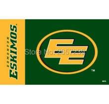 Edmonton Eskimos wordmark Flag 3x5FT CFL banner 100D 150X90CM Polyester brass grommets custom66,free shipping