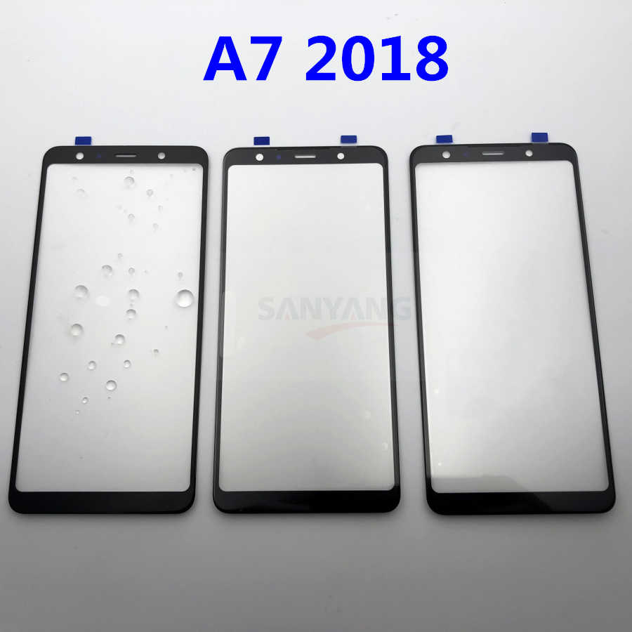 Оригинальное Сменное внешнее стекло для samsung Galaxy A7 2018 A750 A750F, ЖК-дисплей, сенсорный экран, переднее стекло + наклейки и инструменты