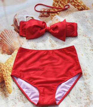 2017 Fashion Push Up Bikini Women Swimsuits Sexy Bathing Suit Swimwear Bowtie Bandeau Bikini Set 27