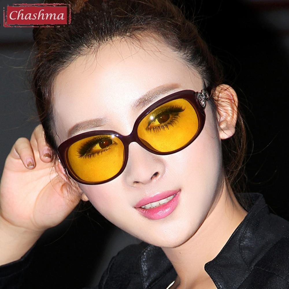Chashma merk designer mode gele lenzen gafas vrouwen nacht rijden bril bestuurder gepolariseerde zonnebril nachtbril