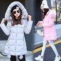 2016 Новая Мода Длинные parka женщин куртки С Меховым Капюшоном Толстые Теплые Вниз Пальто Зимние Женщины Основные Пальто Манто Femme