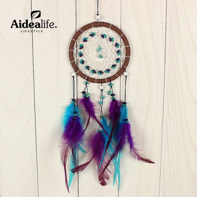Aliexpresscom Buy blue dream catcher feather shapes door