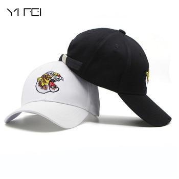 YIFEI Embroidery Tiger Baseball Cap Gorras Autumn Sunhat Animal Snapback Hats Peaked Cap High Quality Unisex 100%Cotton Hat bone para bordar