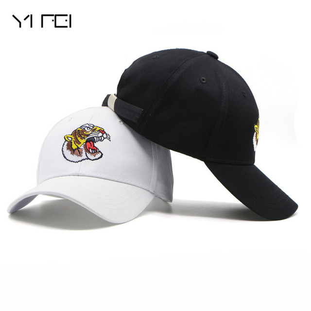 Embroidery Tiger Baseball Cap Gorras Autumn Sunhat Animal Snapback Hats  Peaked Cap High Quality Unisex 100 28533a21a76