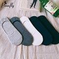 Primavera E no Outono Homem Fundo chinelos meias de Todos Os Jogos de Cor Sólida Coreano Asakuchi Meias Invisíveis Sílica Gel Não-deslizamento Plana meias