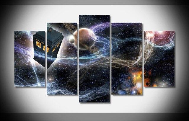 7320 Doctor Who TARDIS espacio TV póster de madera enmarcado galería ...