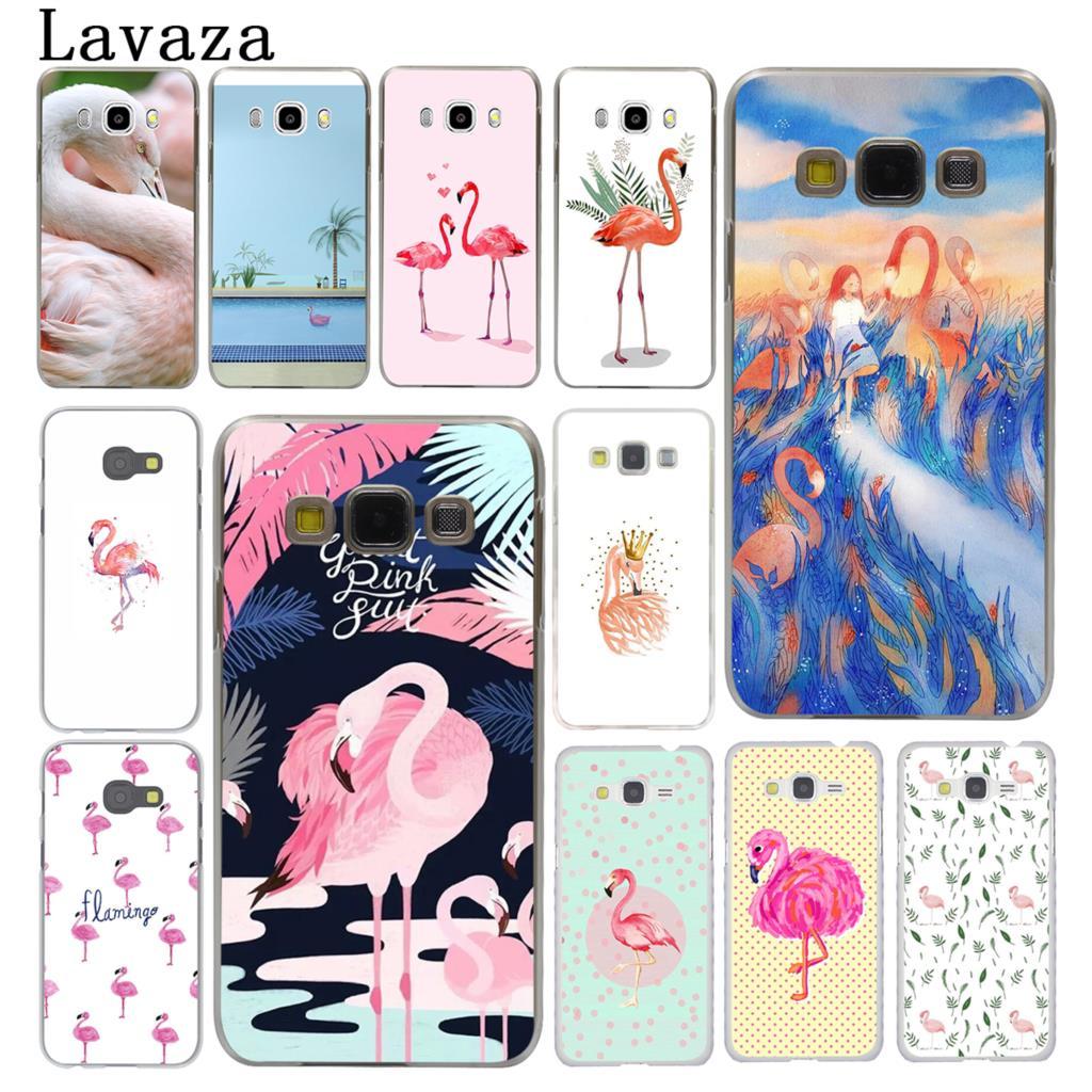 Lavaza Pink Kawaii Flamingo Beach Hard Phone Case for Samsung Galaxy J7 J1 J2 J3 J5 2015 2016 2017 Prime Pro Ace 2018 Cover