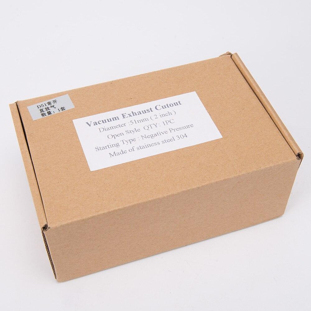 Вакуумный активированный Выпускной вырез 2 ''51 мм Открытый Стиль давление: около 1 бар для FORD MONDEO TDCi TK-CUT51-OP