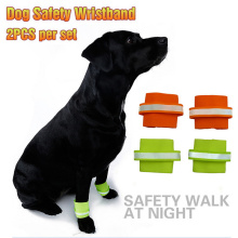 Pet dog Security Wristbands 2Pcs Set Fluorescence Polyester Foot Strap For Pet Dog Products Large Dogs