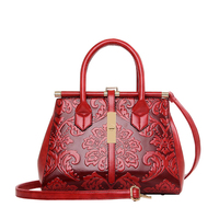 New Brown Blue Red Green Female Women S Frame Shoulder Bags Handbags For Lady Chinese National