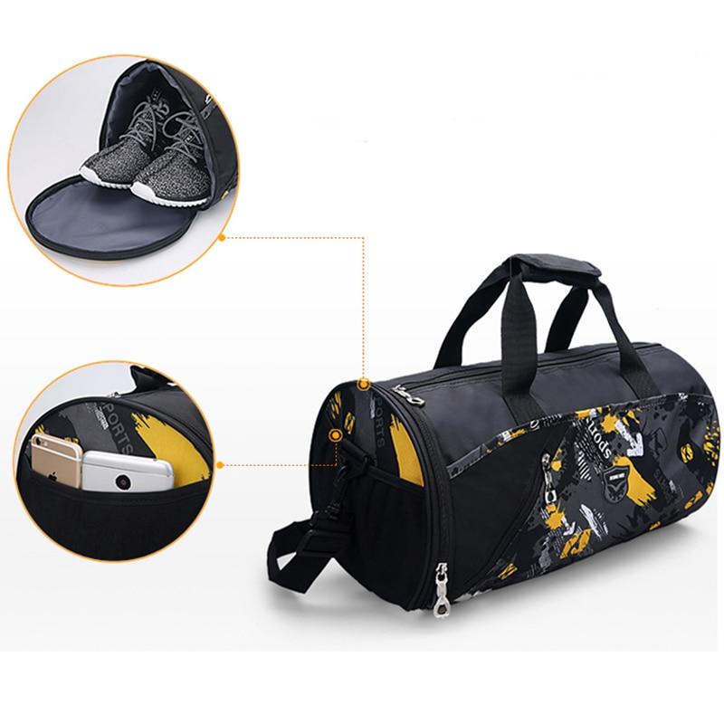 Sports Gym Bag Fitness For Women Men Bags Yoga Nylon Travel Training Ultralight Duffle Shoes Small Sac De Sport 2019 Tas