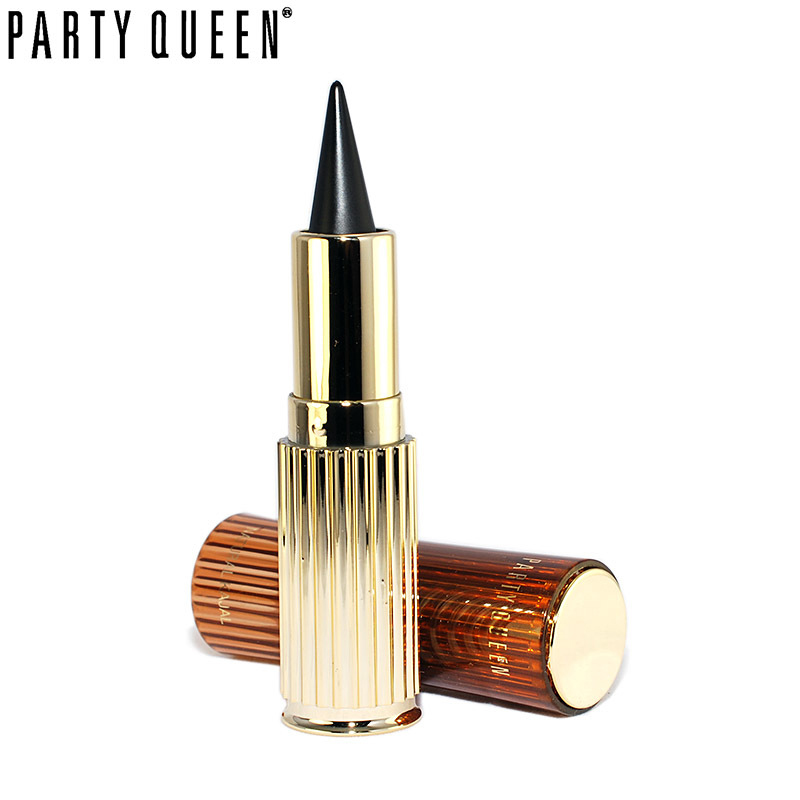 Party Queen Golden Kajal Tjock Svart Vattentät Solid Eyeliner Makeup Ultra Vattentät Långvarig Cat Eyes Gel Eyeliner Pencil