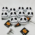 Hang Decorations The Nightmare Before Christmas Jack Plush Toys With Keychain Dolls Mini Soft Stuffed Dolls 8cm 10pcs/lot