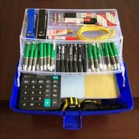 High Quality Multi Function 3 Layer Storage Box Safty PP Material 3 Colors Tool Box For