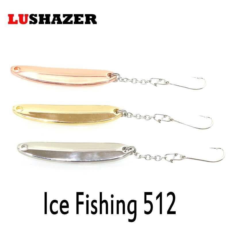 LUSHAZER câu cá kim loại Jig mồi 10g 55mm thìa Mồi Câu Cá Pha tắc bóng móc mùa đông cá leurre Peche con quay cá hồi 512