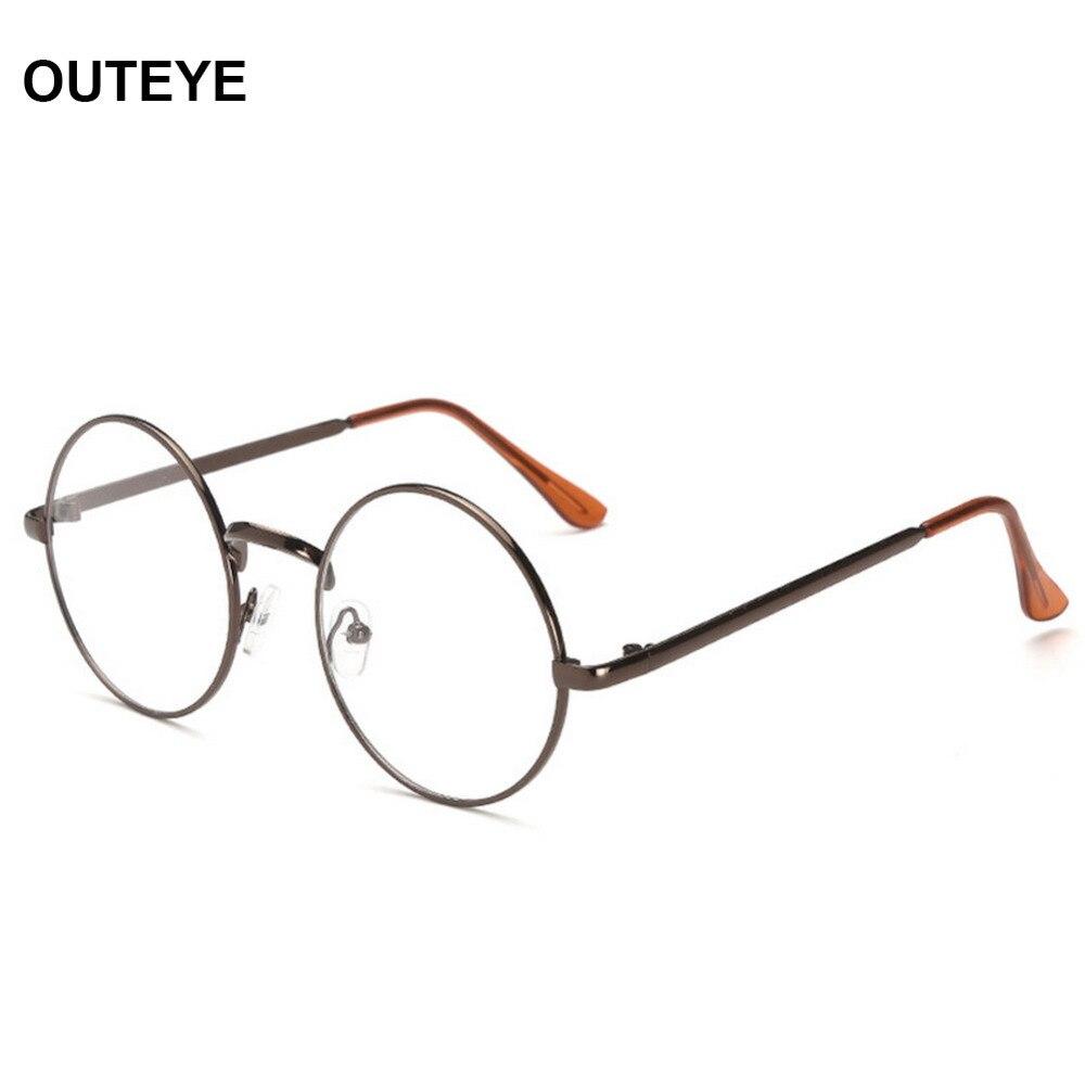ffb77e407d54 Fashion Men Women Vintage Clear Round Frame Lens Eyeglasses Retro Glasses  Unisex Sunglasses