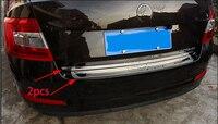 Car Rearguards Trunk Rear Tail Box Bumper Pedal Plate Panel For SKODA Octavia Mk3 A7