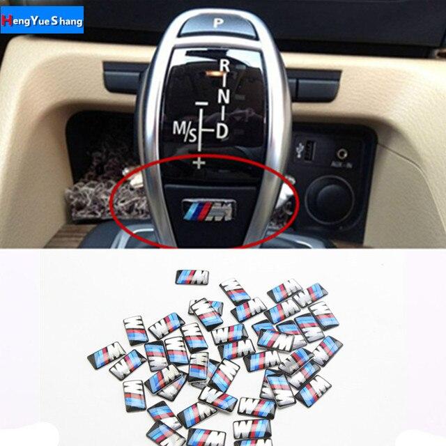 10 pcs Car styling Tec Crachá Roda Esporte 3D M Emblema Roda Adesivo Decalque Fit For BMW X1 X2 X3 m1 M3 M5 M6 Emblema Do Carro Adesivos