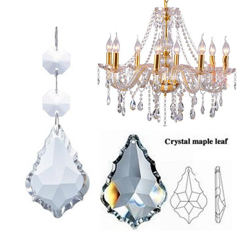 50 мм кулон кленовый лист восьмиугольная бусина искусственный кристалл лампа кулон украшение
