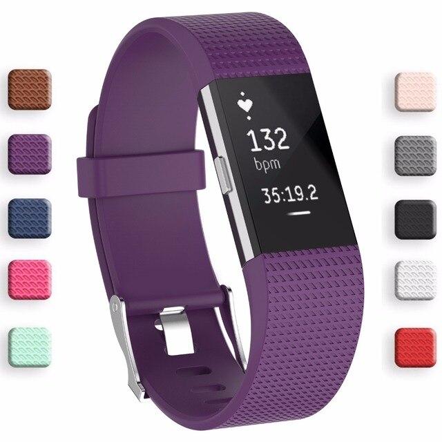 En iyi fiyat Bileklik Bilek Kayışı kordon akıllı saat Kayışı Yumuşak Watchband Değiştirme Akıllı saat kayışı Için Fitbit Şarj 2