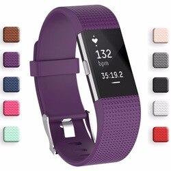 Meilleur prix bracelet bracelet bracelet intelligent bracelet de montre bracelet souple remplacement bracelet de montre intelligent pour Fitbit Charge 2