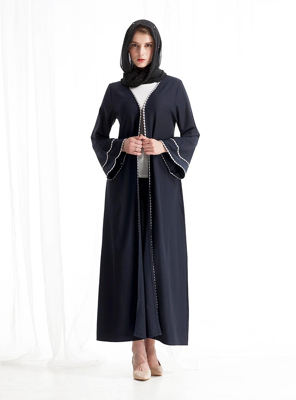 Women long sleeve muslim dress robe dubai moroccan kaftan caftan islamic abaya clothing turkish arabic dress