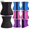 Wechery látex cintura corset 9 ossos de aço espartilho sexy mulheres 100% latex cintura cincher emagrecimento shapewear modelagem alça xs-6xl