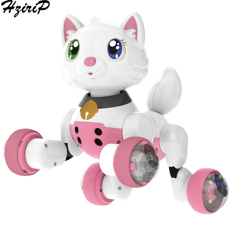 HziriP Childrens Remote Control Robot dog Toy Cartoon Simulation Electric Toys Car Model Toy With Music Model Toys For Kids