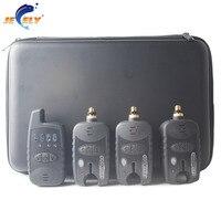 Free Shipping 8 Leds Line Wireless Carp Bite Alarm JY 37 1 Receiver 3 Alarms Batteries
