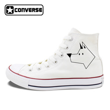 Original font b Converse b font Chucks Sneakers Design Stick Figure Dog Canvas Shoes Men Women