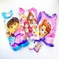 Crianças doar t camisa sofia desenhos animados top t princesa infantil meninas encantadoras manga comprida tee marca traje do bebê verão t