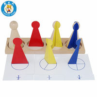 Baby Montessori Math Toy Early Education Preschool Training Toys Large Fraction Skittles With Cards