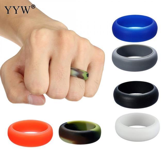 8mm Multicolor Hypoallergenic Crossfit Flexible Rubber Band Silicone