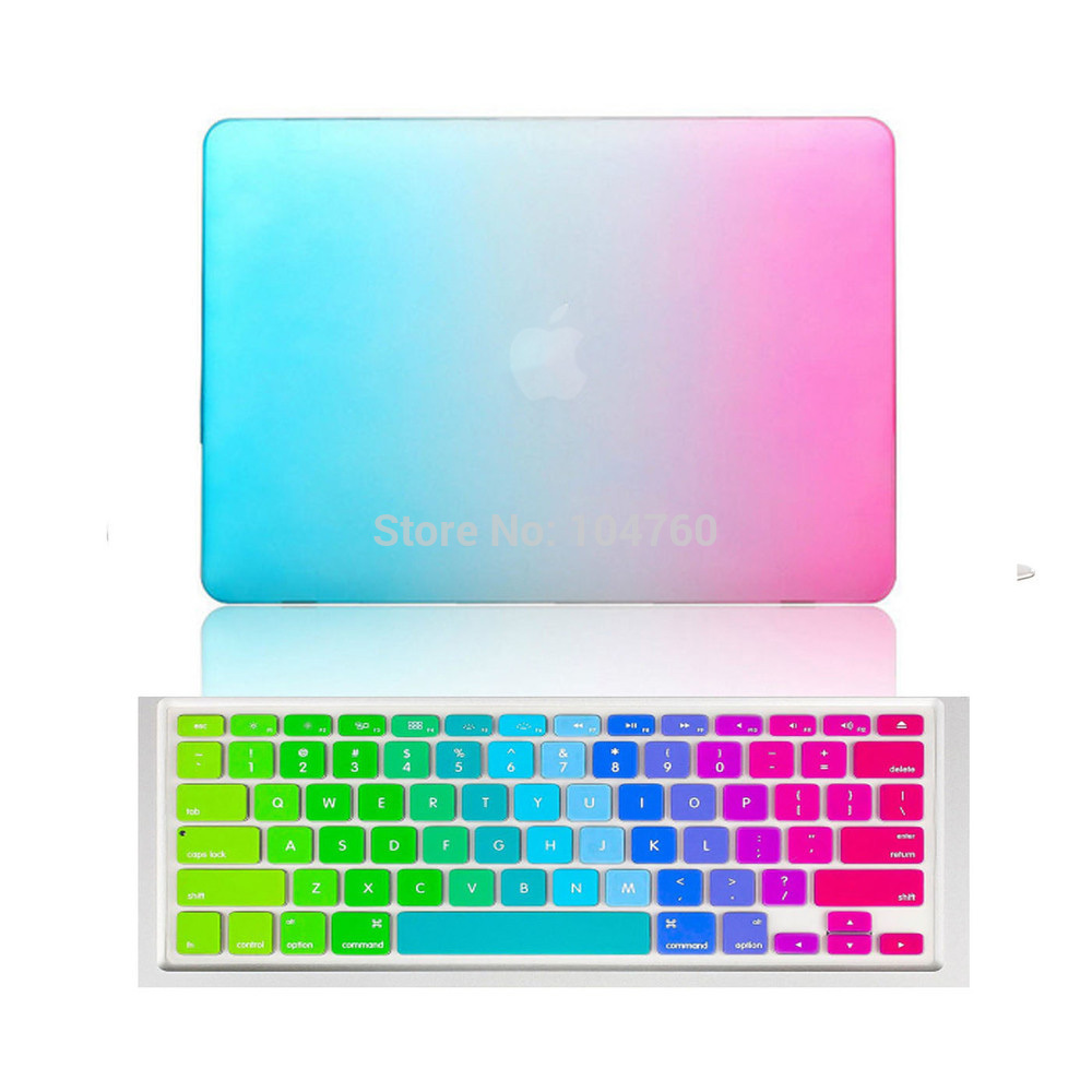 Rainbow Matte Case with Silicone Keyboard Cover for MacBook Air Pro Retina  11 12 13 15 Laptop bag case for Mac book 13.3 inch-in Laptop Bags   Cases  from ... 6f3a55ab45f6