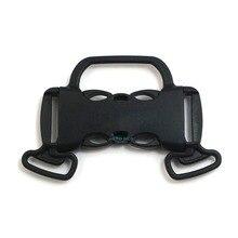 5pcs Release Buckle Paracord Sliders Fasteners Webbing Bracelet Backpack Plastic K2