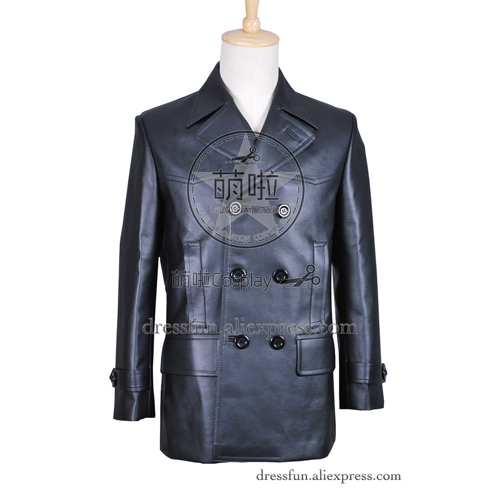 Who Buy Doctor Cosplay The 9th Doctor Ninth Doctor Christopher Eccleston Costume Black Leather Jacket Coat Uniform Coat Cool