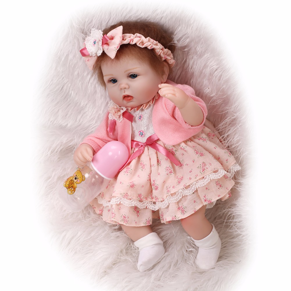 40CM lifelike reborn lovely premmie baby doll realistic boneca reborn silicone hot toys for kids Christmas Gift