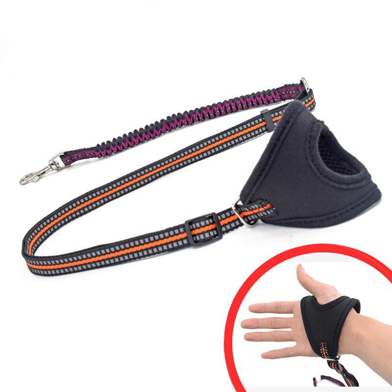 Yooap Hands Free Dog Leash for Running Walking No Pull Harness Retractable with Reflective Stripes Muti-Color Size