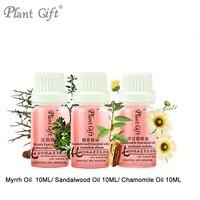 Anti wrinkle 100% Pure Plant Essential Oil Myrrh / Sandalwood / Chamomile Oil 10ml Skin Care Calm Nerves