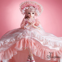 S4 Olinna 1/3 Josephina Doris SD BJD Dolls Handmade Retro Pink Court Dresses and Lierihattu Beautiful Dream Toys for Girls