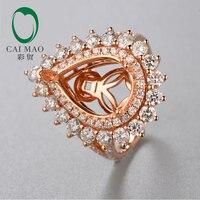 10x14 mét Pear shape 18 K rose gold Natural 2.04ct Kim Cương Engagement Ring Jewelry cho Miễn Phí Vận Chuyển