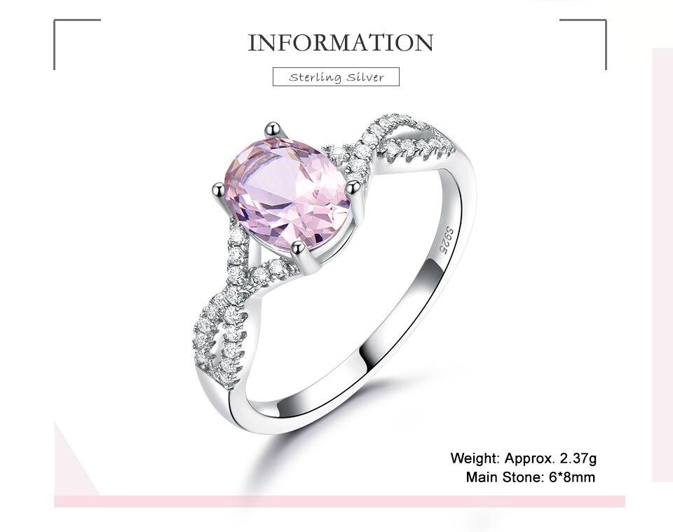 Honyy morganite  925 sterling silver rings for women RUJ099M-1-pc (2)