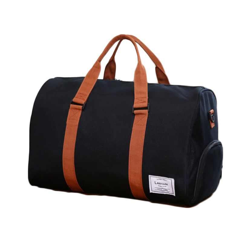 60655b27cb24 Nylon Travel bag Men Large Capacity Duffle Bags Carry on Luggage short trip  totes Waterproof handbag
