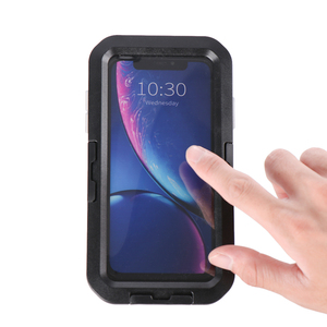 Image 2 - Высококачественный 360 ° водонепроницаемый держатель для телефона на руль велосипедный мотоциклетный чехол для iPhone 5 5s 6 6s 7 8 Plus X XR XS Max