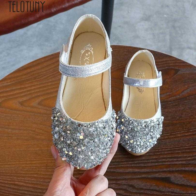 TELOTUNY bebé niña princesa Zapatos niños pequeños moda cristal cuero solo zapatos fiesta princesa zapatos gd
