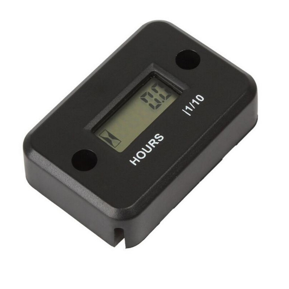 Mini Inductive Digital Hour Meter Snowmobile Marine Boat Ski Dirt Gas Engine Waterproof LCD Display for Bike Motorcycle ATV