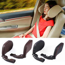 Car headrest pillow Sleep Adjustable Side Car Soft Travel Seat Headrest Auto Leather Support Neck Pillow Cushion car accessories - DISCOUNT ITEM  24% OFF Automobiles & Motorcycles