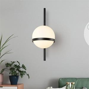 Image 2 - BEIAIDI Vintage Industrial Glass Globe Wall Light Nordic Moon Planet Wall Lamp Bedroom Bedside Sconce Bathroom Mirror Headlight
