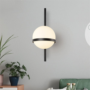 Image 2 - BEIAIDI בציר תעשייתי זכוכית גלוב קיר אור נורדי ירח כוכב ליד המיטה בחדר שינה מנורות פנס מראה בחדר אמבטיה